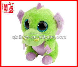 2014 hot sale fantasy big eyes plush dragon toy