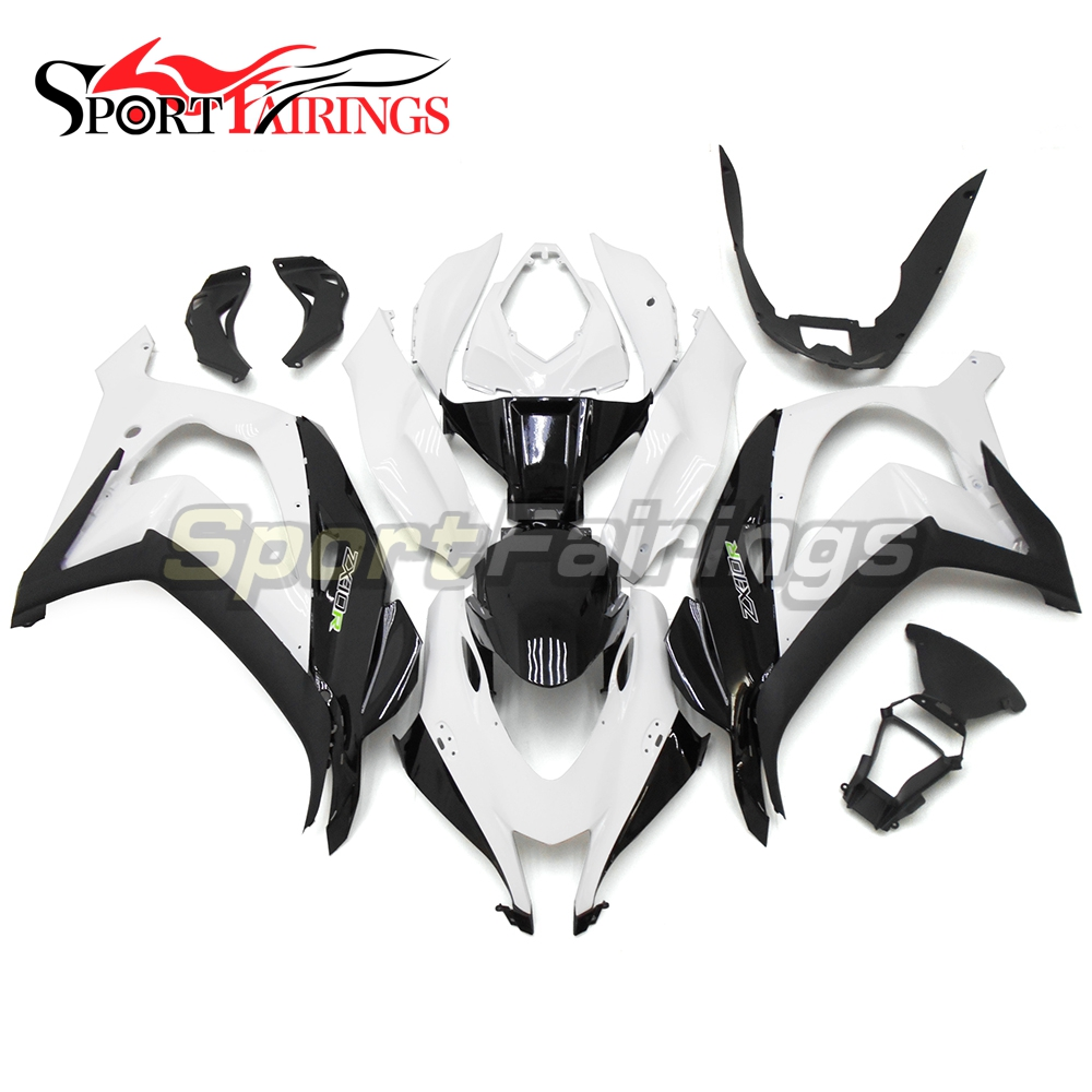 Motorcycle ABS Injection Fairings For Kawasaki Ninja ZX10R ZX-10R 16 Year 2016 Black White Fairing Kits New Arrival