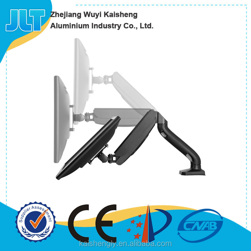 Full Motion Gas Spring Single Monitor Desk Mount