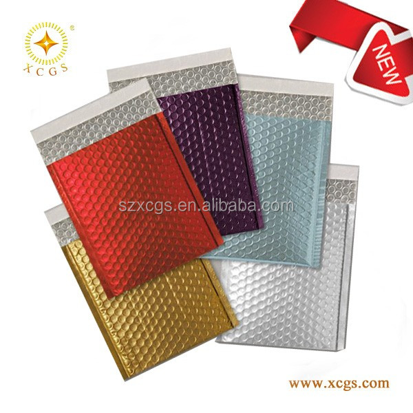 Glamour Bubble Lined Metallic Foil Padded Envelopes Bags Lined Mailing All Colours