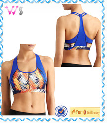 OEM service 2015 new printed women yoga sports bra sportswear