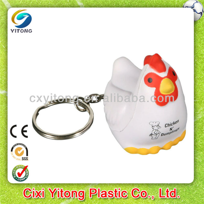 2014 New Promotional Gift,chicken stress ball keychains