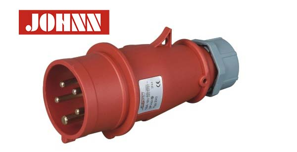 Factory supply IP44 5 Phase 400V waterproof industrial plug