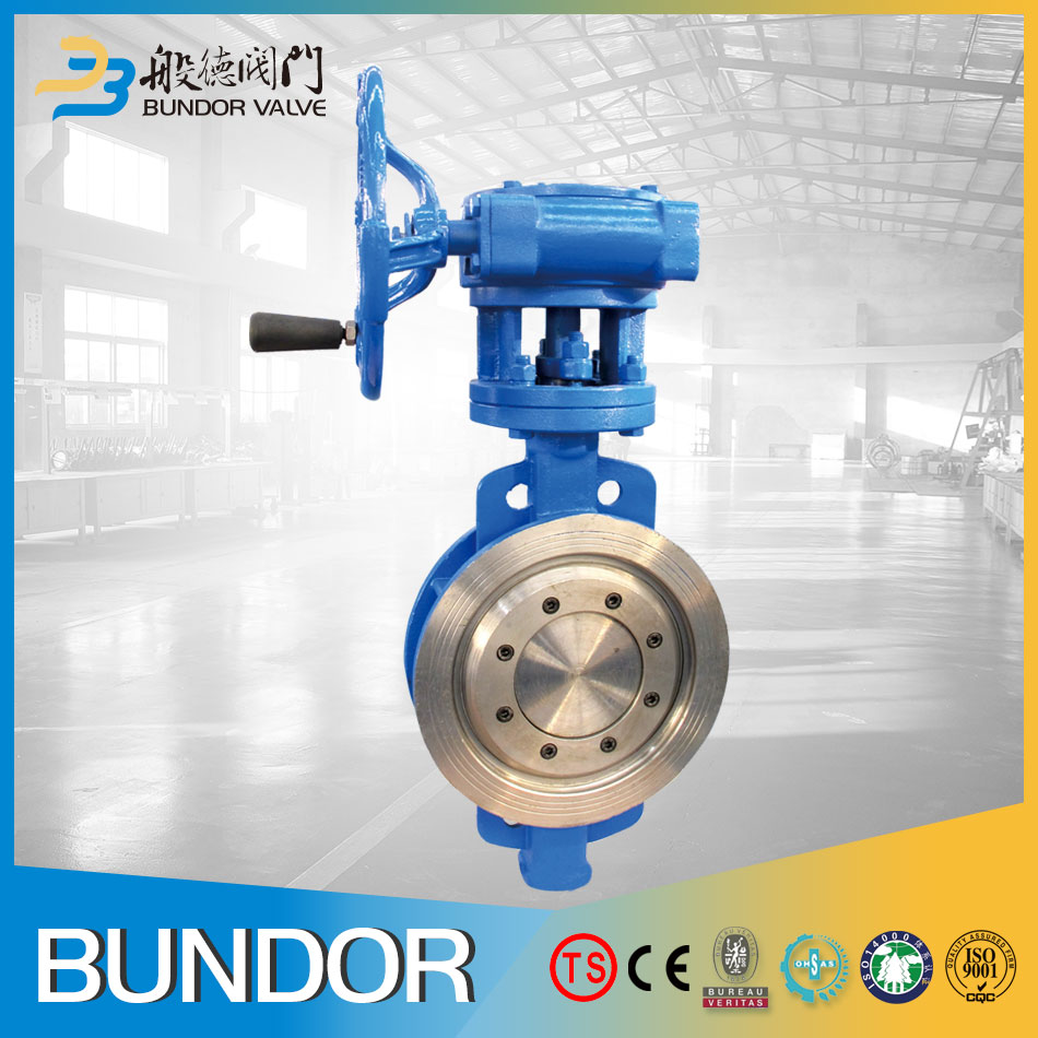 24 inch butt weld manual handle stainless steel flanged double eccentric double offset butterfly valve design