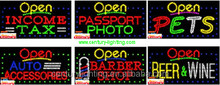 barber shop open animated led sign