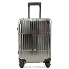 Unique hand carry trolley ABS PC luggage royal travel luggage with TSA lock