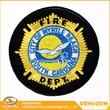 CUSTOM FIRE DEPT EAGLE EMBROIDERY UNIFORM PATCH