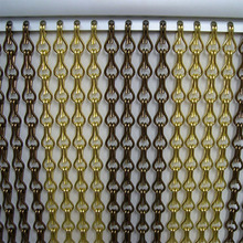 Top quality Metallic Chain Link Insect & Fly Screen drape