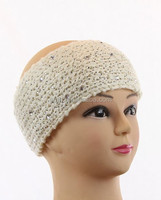 knitted Handmade headband crochet Headwrap with rhinestone 66