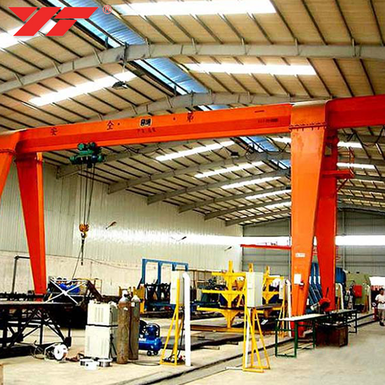 China Top crane manufacturer 5~20t single beam workshop mh gantry crane with electric hoist