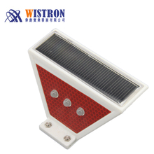 Solar Trapezoid Guardrail Delineating Marker