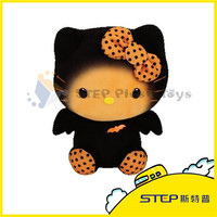 China Wholesale Stuffed Animal Customized Halloween Black Cat Plush Toy For Kids Best Gift