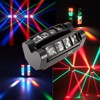 RGBW LED DMX512 Sound Activated Auto Running Mini Spider Stage Beam Light Head Moving Rotatable Effect Lamp with