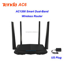 Original Tenda AC6 Home Router 1200M Smart Dual-Band WIFI Router Low-power Consumption And Smart Eco-friendly