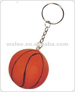 Promotioal gifts ,PU foam basket balls,gift lovely keychains