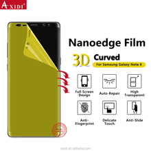 NANOEDGE Case Friendly Magic 3D Full Screen Cover Soft Silicone Tpu Film for Galaxy Note 8 Dry Screen Protector