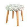 Chinese star product Cheap Petrified Distressed Small Fabric Knitted Round wooden ottoman stool