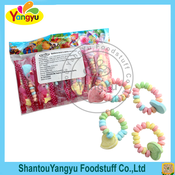 Bracelet accessory delicious kids snack food low sugar tablet roll candy