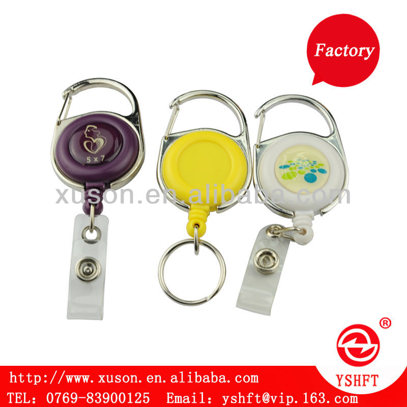 popular retractable badge holder yoyo with zinc alloy housing ring with white pencil holder with students and business