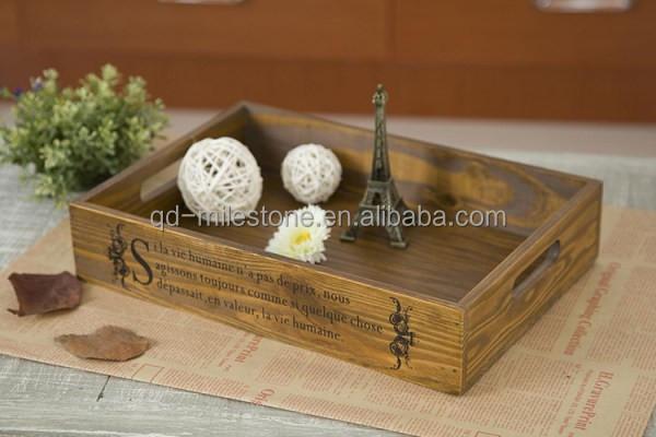 2015 japanische eiche holz tablett platte dekoration tee tablett nahrungsmittel fr chte - Japanische dekoration ...
