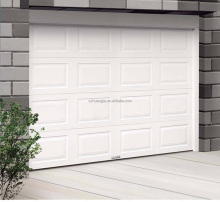 Automatic White Galvanized Steel with Foam folding garage door/8x7 automatic roll up garage door