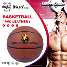 PVC leather basketball for outdoor training