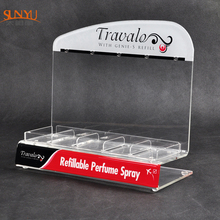OEM Acrylic Practical Counter Perfume Display With Customized Logo