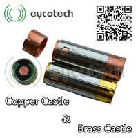 2014 Eycotech newest fantastic design atty rda/rba full mech mod plume veil atomizer Copper & Brass castle mod with promotional