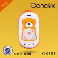 CONCOX lowerest price mobile phone for small kids GK301 support gps tracking and SOS emergency fast-dial for four family numbers