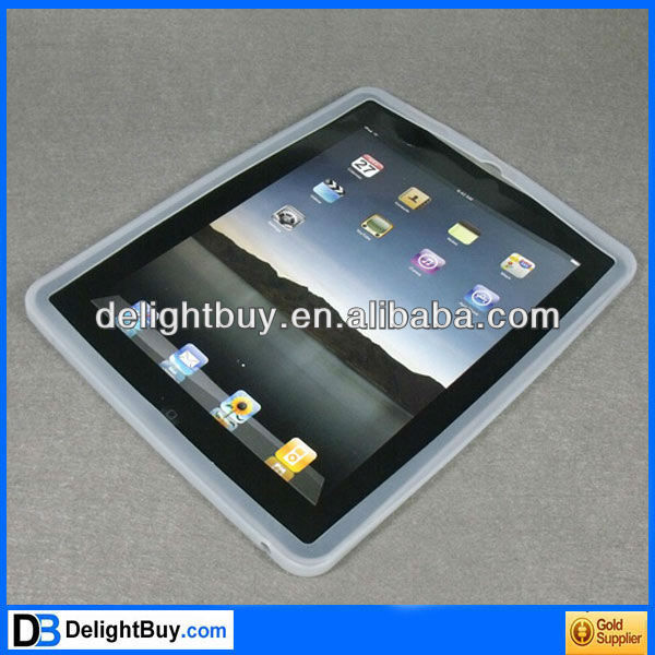 Clear Silicone Back Case Skin Cover for Apple iPad