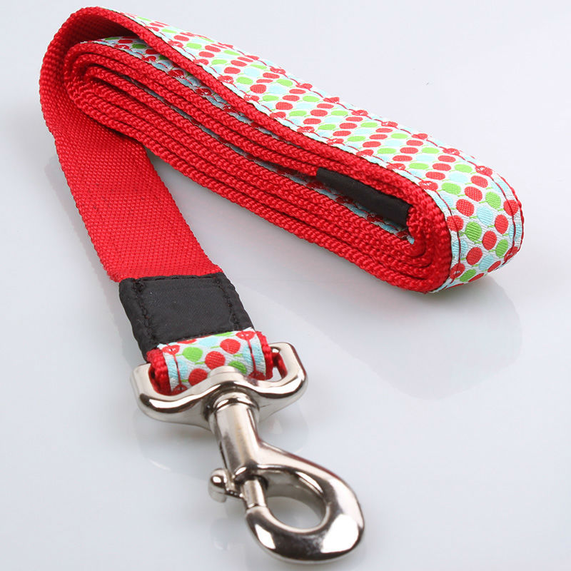 Fashion Design Custom Logo Good Quality Nylon Braided Hemp Dog Leash Wholesale