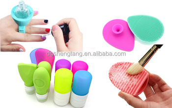 Fashion Custom Silicone Cosmetic Products,Silicone Sponge,Silicone Makeip Bottle