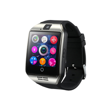 Q18 smart watch phone Stainless steel curving screen gsm smart watch Q18 bluetooth watch phone