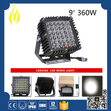 High quality 9 inch 360w led driving light for ATV, SUV, off road, 4X4, mining vehicle,etc.