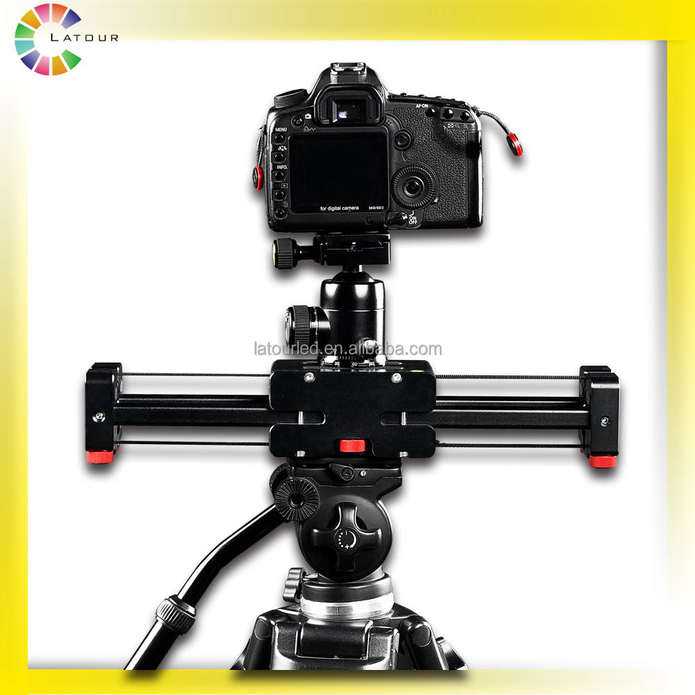 China LATOUR camera support accessories double distance video camera slider plus for DSLR