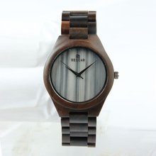 China New Custom Beautiful Ladies Marble Face Character Wood Watch
