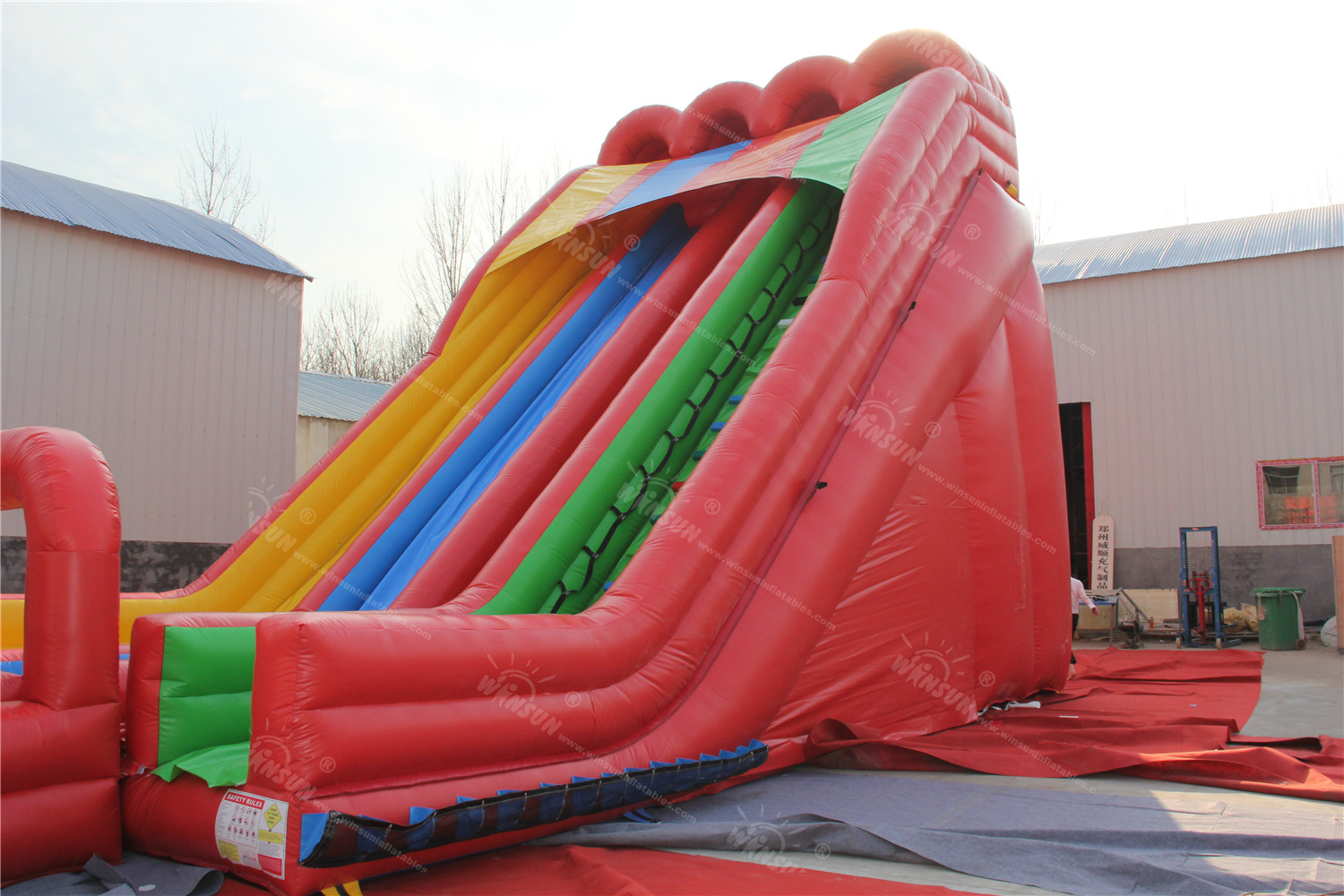 Triple Lindy With Surf N Inflatable Water Slide