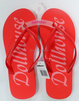 wholesale personalized cheap slipper rubber EVA flip flops