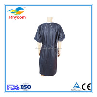 Hospital disposable surgical childrens patient gown with short sleeve