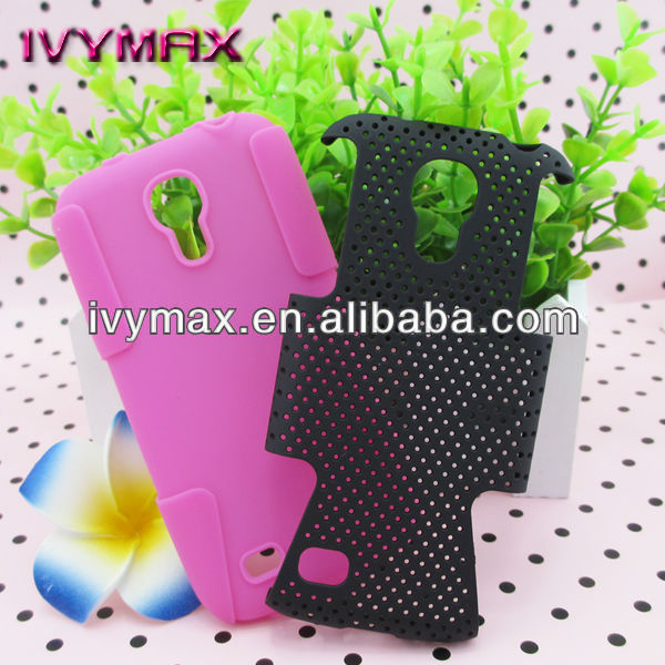 ivymax pc silicone mobile phone case for samsung i9190