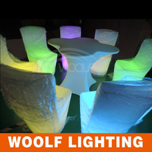 plastic light up led lights wedding chairs