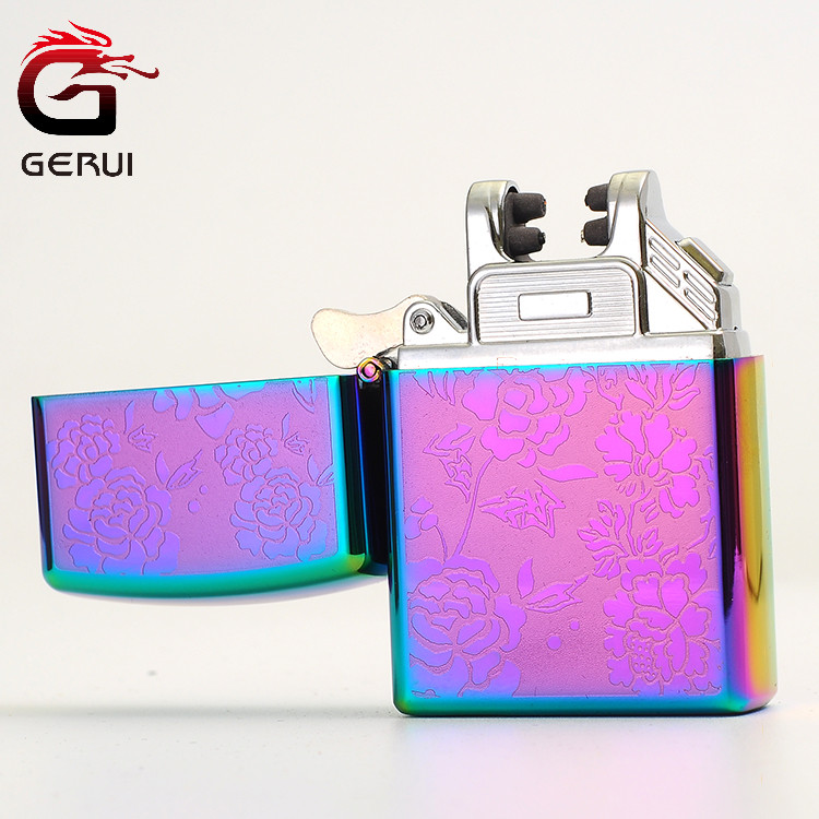 Male Gift Arc Lighters Windproof USB Rechargeable Electric Lighter USB