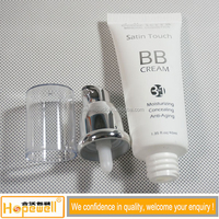 40ml pump BB cream Plastic tube container sealed cosmetic packaging, soft transparent plastic PE tube for OEM guangzhou