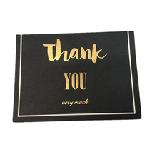 Luxury Black Gold Foil Mini Size Thank You Happy Birthday Greeting Cards