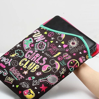 hot selling custom fake neoprene laptop sleeve with zipper