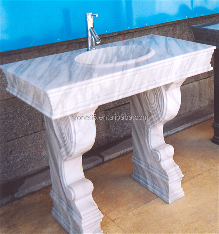 china sanitary ware Low price carrara white marble oval wash basin