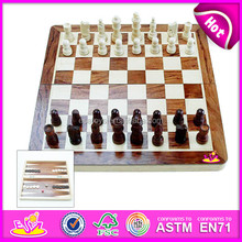 Hot sale Wooden chess game for kids,funny educational toy wooden toy chess board for children W11A003-A1