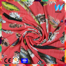 2017 hot design 100% polyester crepe chiffon printed fabric