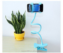 Desk Phone Holder,Long Arm Lazy Clip Flexible Mobile Phone Holder Cradle Stand For Mobile Phone