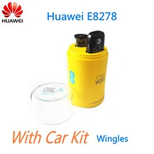 Unlock 4G Car WiFi Router with SIM Card Slot with Car Charger Huawei E8278
